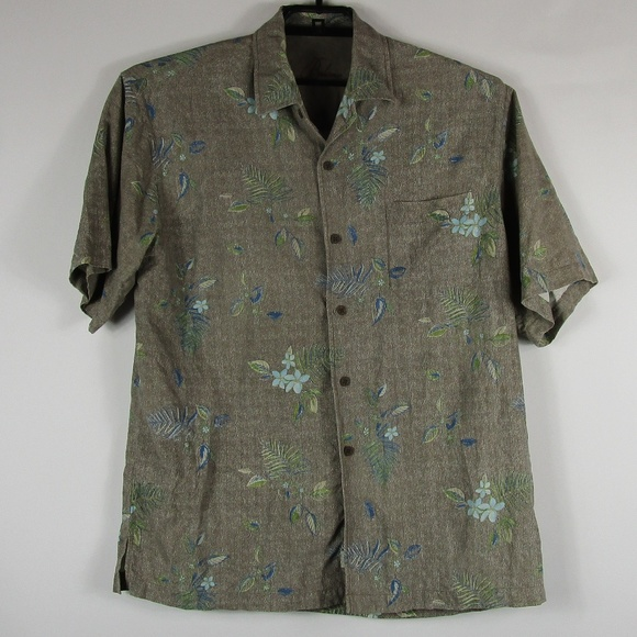Tommy Bahama Other - Tommy Bahama Button Camp Shirt Large 100% Silk